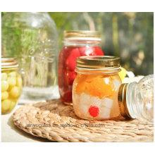 300ml 500ml 1000ml Pot de verre sculpté pour le miel, bouteilles de nourriture