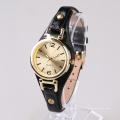 Relógios de moda de ouro, relogios de aço inoxidável