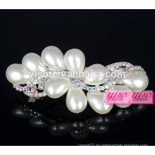 Cristal de colores y joyería de perlas adornos de pelo pinza de pelo