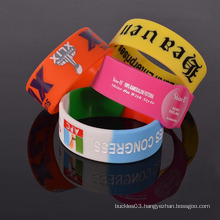 Popular wholesale hand bracelet silicone recycled silicone wristband