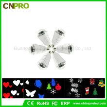 Großhandels-E27 4W LED Stadiums-Laser-Beleuchtung-Effekt-automatische drehende Flocken-Birne