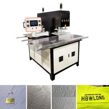brand logo auto heat pressing machine for fabric