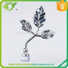 D-S0020 New design metal curtain accessories decorative curtain rods leaf finials