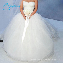 White Sexy Tulle China Custom Ball Gowns Wedding Dress
