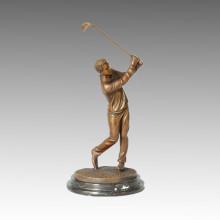 Estatua Deportiva Competidor De Golf Escultura De Bronce, Milo TPE-221