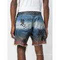 2018 personalizado impresso denim jeans homens calções impressos apelo 2018 homens impresso calções casual moda calções novo design de recurso