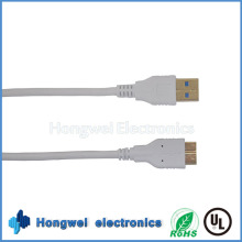 USB 3.0 Am to Micro Bm Cable Am/Micro for Galaxy Note 3 White Cable