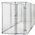 Chain link outdoor large dog run kennel