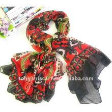 Lenço quadrado estampado floral para o desgaste do pescoço ao melhor preço