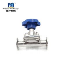 China-Hersteller Völlig gelagertes gesundheitliches 316L Edelstahl-manuelles / pneumatisches Steuerventil Membranventil