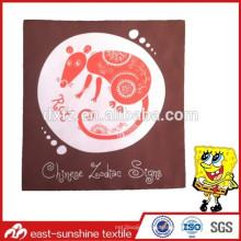 Обычай крыса логотип микрофибры ткань для чистки, bluk пользовательских логотип печатная чистящая ткань