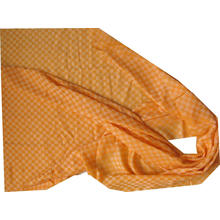 Cashmere Chess Plaid Thin Shawl Orange