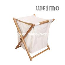 Cesta de lavado de bambú carbonizada (WWR0501A)
