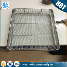 Heat resistant 304 Stainless Steel Wire Mesh Basket / Filter Basket