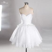 RSW763 Sweetheart Neckline Puffy Skirt Sexy Short Mini White Short Wedding Dress