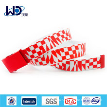 Fashion Red Webbing Military Buckle Belt