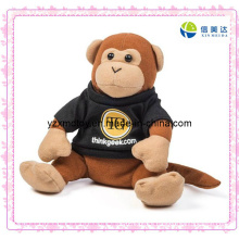 Plush Timmy Thinkgeek Monkey Toy with Black Clothes