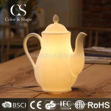 New arrival modern tea kettle shape ceramic table lamp
