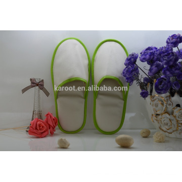 cheap soft personalized close toe white pu hotel slipper