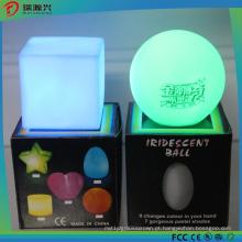 Luz colorida da vela do diodo emissor de luz da forma quadrada para luzes da decoração