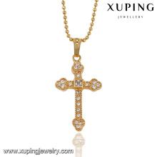 32546- Xuping Trendy Charm 18K chapado en oro cruz colgante
