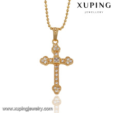 32546- Xuping Trendy Charm 18K Gold Plated Cross Pendant