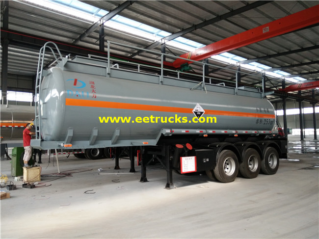 Tri-axle 25000L Nitric Acid Tank Trailers