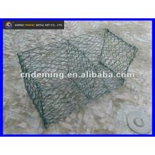 Malha de arame hexagonal revestida em pó