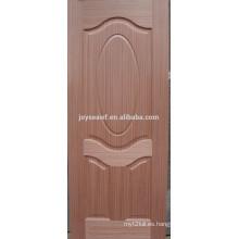 Precio de fábrica moldeado melamina caoba mdf puerta piel