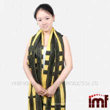 80%modal 20%wool blended women's Elegant scarf Bright Yellow shawl