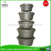 LFGB camping cast iron dutch oven 4QT 6QT 9QT
