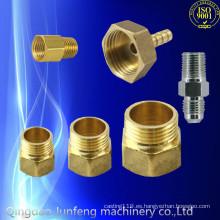Adaptador de tubería de gas de latón personalizado de alta calidad