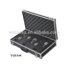 strong and portable aluminum instrument carrying case with custom foam insert