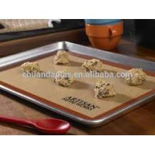 Atacado Silicone Revestido Tecido resistente ao calor Grade alimentar saudável Anti-slip Silicone Baking Mat
