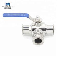 SUS 304 Нержавеющая сталь Санитарный Tri-Clamp Санитарный нержавеющий шаровой клапан, портативный шаровой кран с концом Tri-Clamp