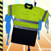 2016 High Quality Reflective Polo Shirt Safety Ventilate and Fashion for Work and Sports