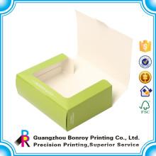 Customized Window Fancy Cardboard Ceramic Macaron Packaging Box Wholesale