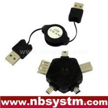 USB versenkbares Kabel und Multifunktionsadapter