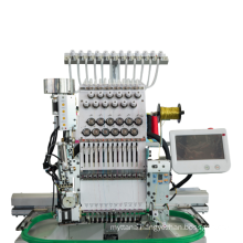 QS-1201ZS Single Head Computerized Embroidery Machine Dahao Computer for T shirt logo label rope Embroidery Machine