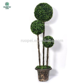 120см 150см 3 шт искусственный самшит подстриженными шарик дерево с горшком
