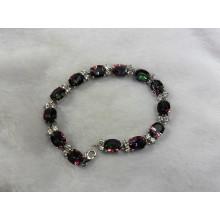 Moda pulseira de joias de prata quartzo místico (BR0025)