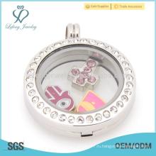 Прекрасный дешевый книжный медальон, плавающий серебряный медальон, кристалл