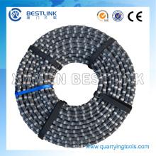 11.5mm 40 Beads Rubberized Granite Diamond Wire Saw