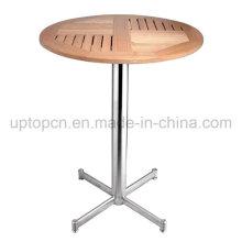 Твердой древесины Тикового дерева, стол из нержавеющей стали для наружной (СП-AT335)