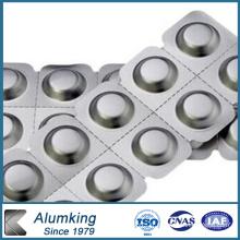 Lamelle en aluminium de série 8000 pour feuille de laboratoire pharmaceutique