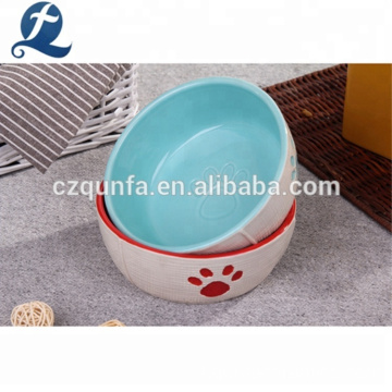 Ciotola in ceramica personalizzata per animali domestici Cat Dog Feeder in gres