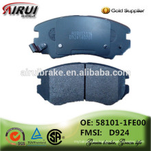 china brake pads factory, auto parts(OE: 58101-1FE00 / FMSI: D924)