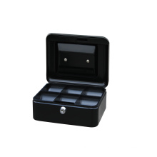 High Quality Small Size 6 inch Coin Collecting Euro Money Storage Cash Box