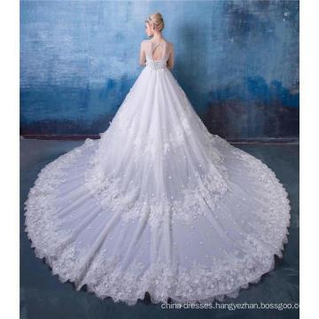 Off Shoulder Luxury Wedding Dress Bridal Gown HA599