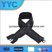 10# Plastic Zipper, Zipper with Double Slider